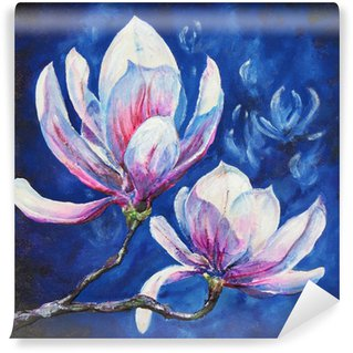 Magnolia acrylic painted Wall Mural - Vinyl