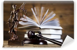 Wall Mural - Vinyl Mallet, legal code and scales of justice