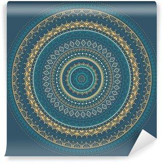 Mandala. Indian decorative pattern. Wall Mural - Vinyl