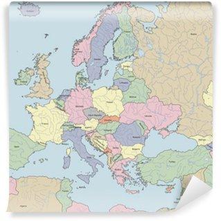 Map of Europe Wall Mural - Vinyl
