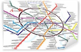 Map subway Wall Mural - Vinyl