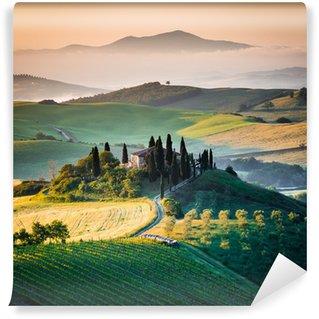 Mattino in Toscana, paesaggio e colline Wall Mural - Vinyl