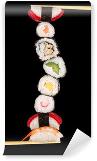 Wall Mural - Vinyl Maxi sushi, isolated on white background