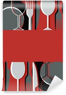 Wall Mural - Vinyl Menu or restaurant card