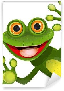 Wall Mural - Vinyl merry green frog