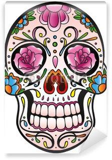 Mexican Sugar Skull, Totenkopf, bunt, vector Wall Mural - Vinyl