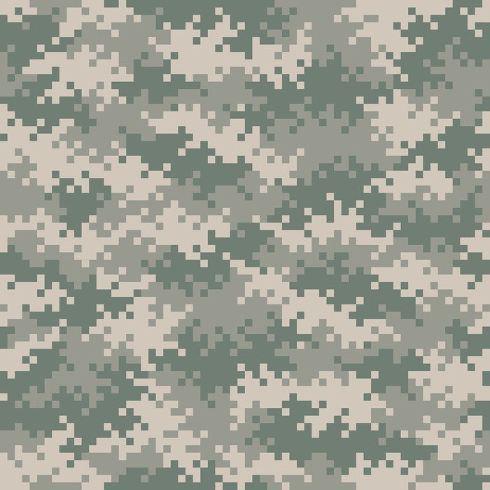 Military camouflage pixel pattern seamlessly tileable for Camouflage wall mural