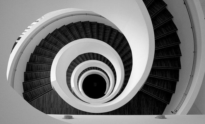 Wall Mural - Vinyl Modern spiral stairs detail - Illusion