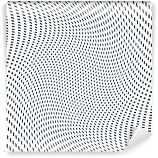 Moire pattern, op art background. Hypnotic backdrop with geometr Wall Mural - Vinyl