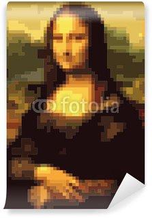 Wall Mural - Vinyl Mona Lisa squares