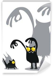 Monster and cat Wall Mural - Vinyl