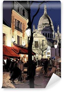 Wall Mural - Vinyl Montmartre in winter