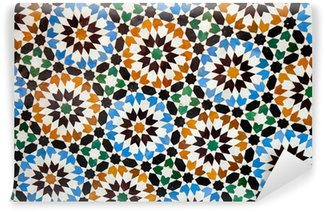 moroccan tile background Wall Mural - Vinyl