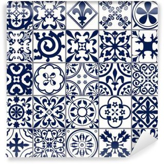 Moroccan tiles Seamless Pattern A Wall Mural - Vinyl