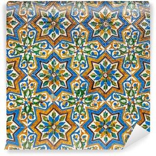 moroccan vintage tile background Wall Mural - Vinyl