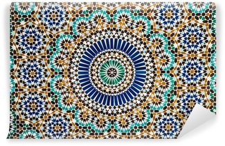 moroccan vintage tile background Wall Mural - Vinyl