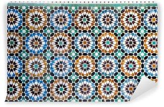 Wall Mural - Vinyl moroccan vintage tile background
