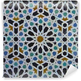 Moroccan Zellige Tile Pattern Wall Mural - Vinyl