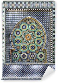 Morocco. Detail of oriental mosaic in Meknes Wall Mural - Vinyl