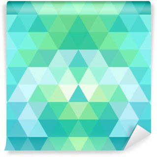 Vinyl Wall Mural Mosaic triangle background. Geometric background