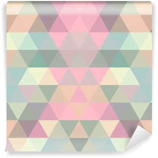 Mosaic triangle background. Geometric background Wall Mural - Vinyl