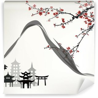 mountain pavilion Wall Mural - Vinyl