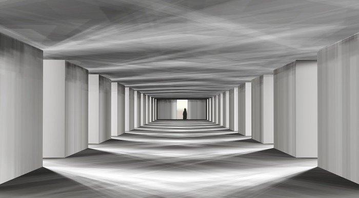 Wall Mural - Vinyl mystical corridor -