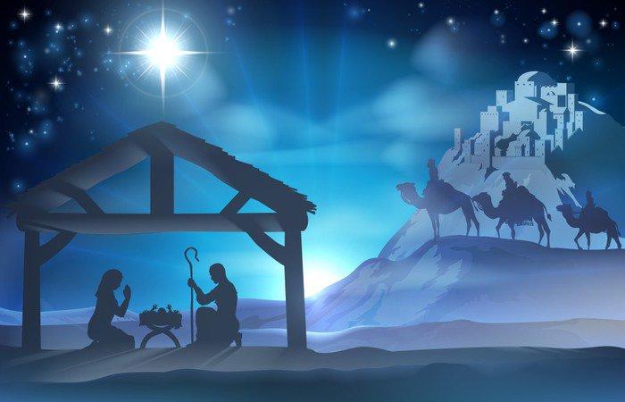 Elegant Vinyl Wall Mural Nativity Christmas Scene   Culture And Religion Photo Gallery