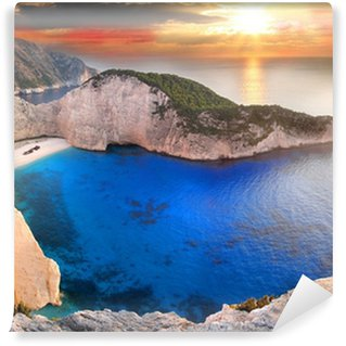 Navagio Beach with shipwreck in Zakynthos, Greece Wall Mural - Vinyl
