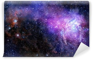 Galaxy Wall Mural nebula gas cloud in deep outer space wall mural - vinyl • pixers