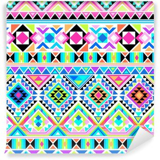 neon aztec print ~ seamless background Vinyl Wall Mural