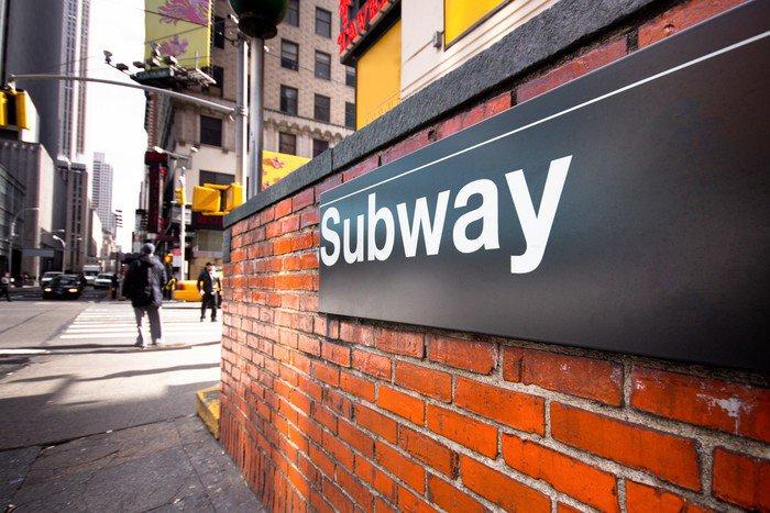 Wall Mural - Vinyl New York City Subway Entrance on Street - American Cities