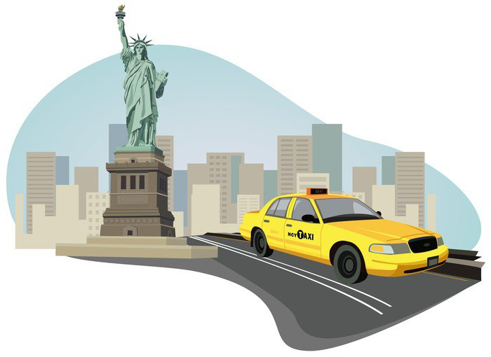 Wall Mural   Vinyl New York City Taxi   Wall Decals