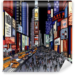 Wall Mural - Vinyl New York - night view of times square