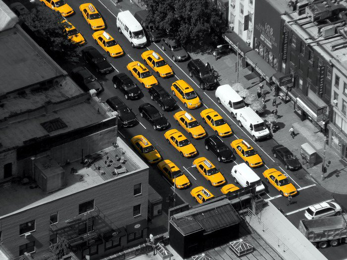 Wall Mural   Vinyl New York Taxi Cabs   America Part 49