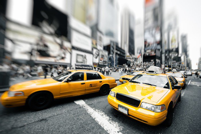 Exceptional Wall Mural   Vinyl New York Taxi   Themes Part 19