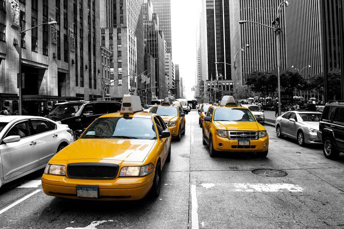 Wall Mural   Vinyl New York Taxi   American Cities Part 11