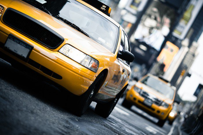 Beautiful Wall Mural   Vinyl New York Taxi   American Cities Part 32