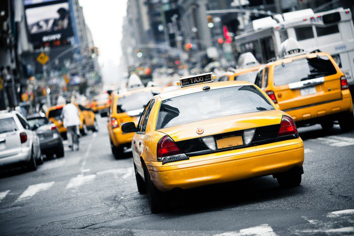 Lovely Wall Mural   Vinyl New York Taxi   Themes Part 26