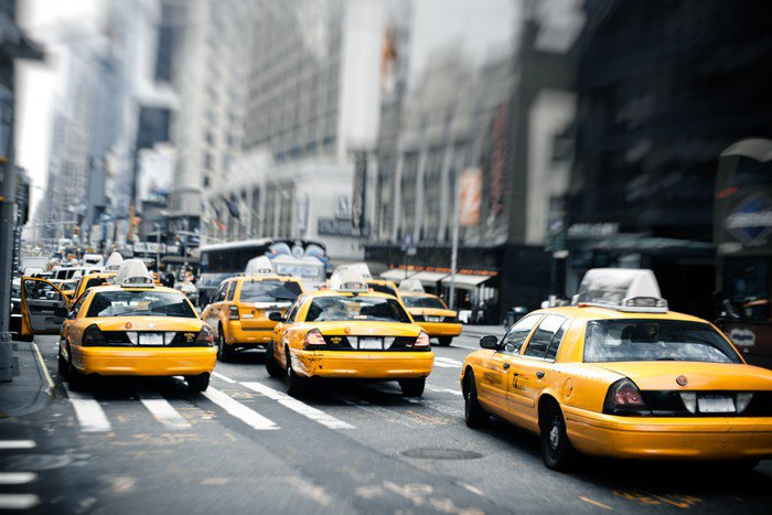 Perfect Wall Mural   Vinyl New York Taxis   Themes