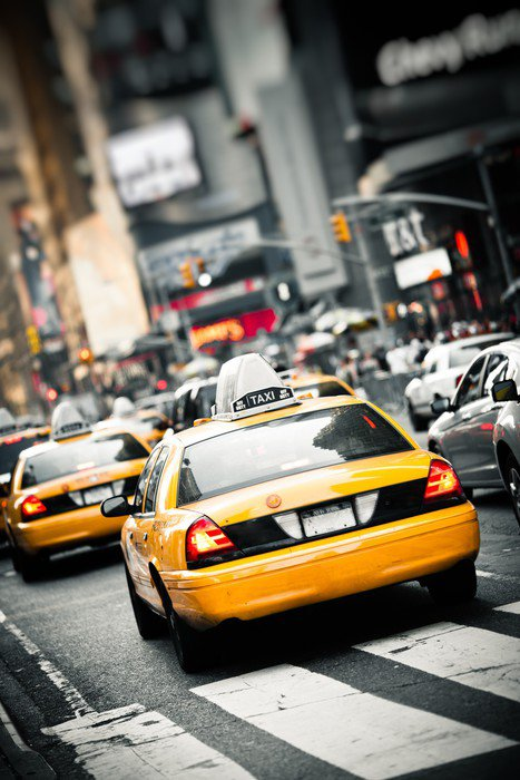 Wall Mural   Vinyl New York Taxis   Themes