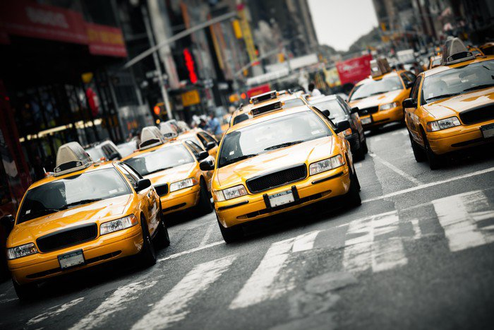 Wall Mural   Vinyl New York Taxis   American Cities