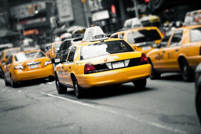 Elegant Wall Mural   Vinyl New York Taxis   American Cities