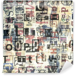 Wall Mural - Vinyl newspaper, magazine collage grunge background