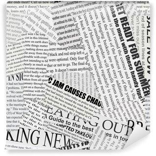 Wall Mural - Vinyl Newsprint Background