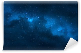 Night sky - Universe filled with stars, nebula and galaxy Wall Mural - Vinyl