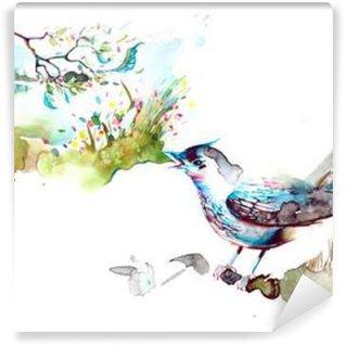 Wall Mural - Vinyl nightingale
