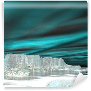 Northern lights (aurora borealis) - 3D render Wall Mural - Vinyl
