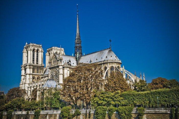 Wall Mural   Vinyl Notre Dame De Paris Stylisée   Themes