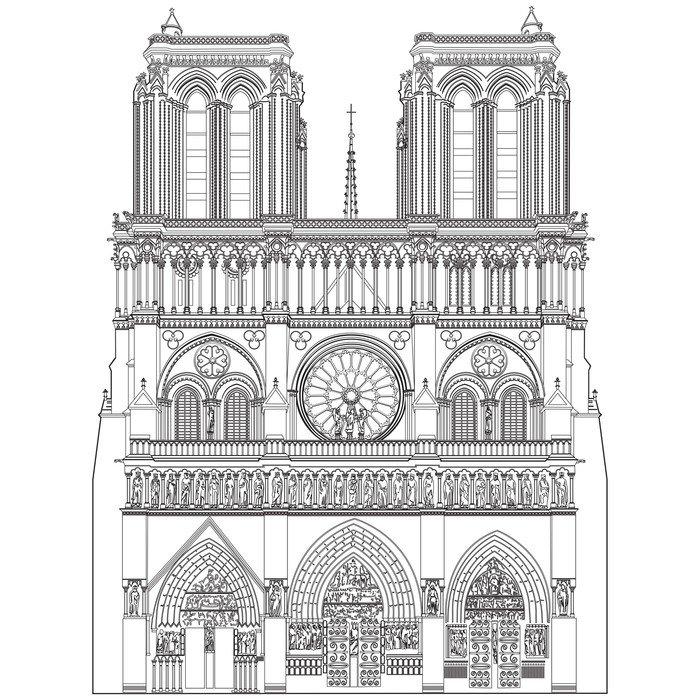 Wall Mural   Vinyl Notre Dame De Paris   Monuments